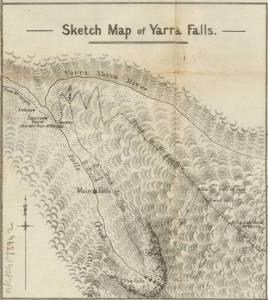 1925 Sketch map of Yarra Falls