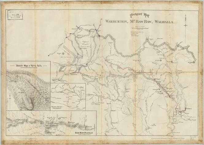 Upper Yarra Track: 1925 Tourist Brochure & Map
