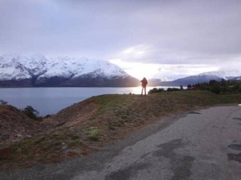 Lake Wakatipu Sunset via Queenstown NZ