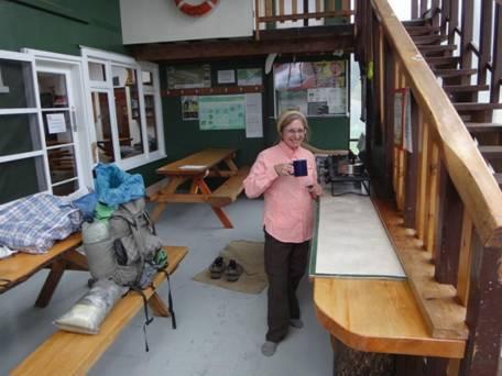 Cuppa time: Waitutu Lodge Wairaurahiri River