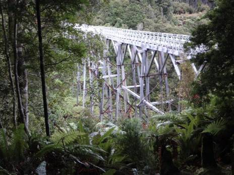 Percy Burn Wooden Trestle bridge, the largest in the world : 125 x 36 metres.