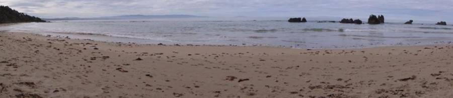 Blowholes Beach South Coast Track Fiordland NZ