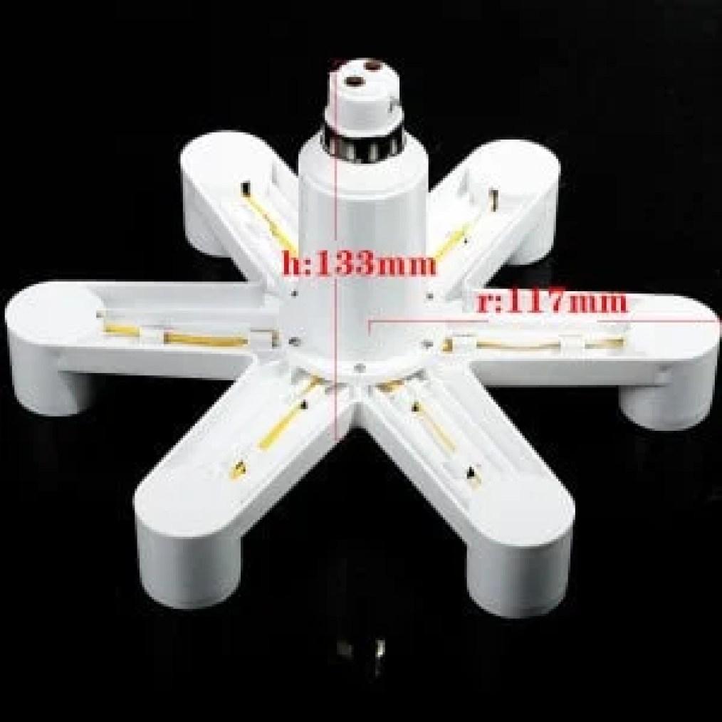 E27 to E27 Hextuple Adapter/Splitter