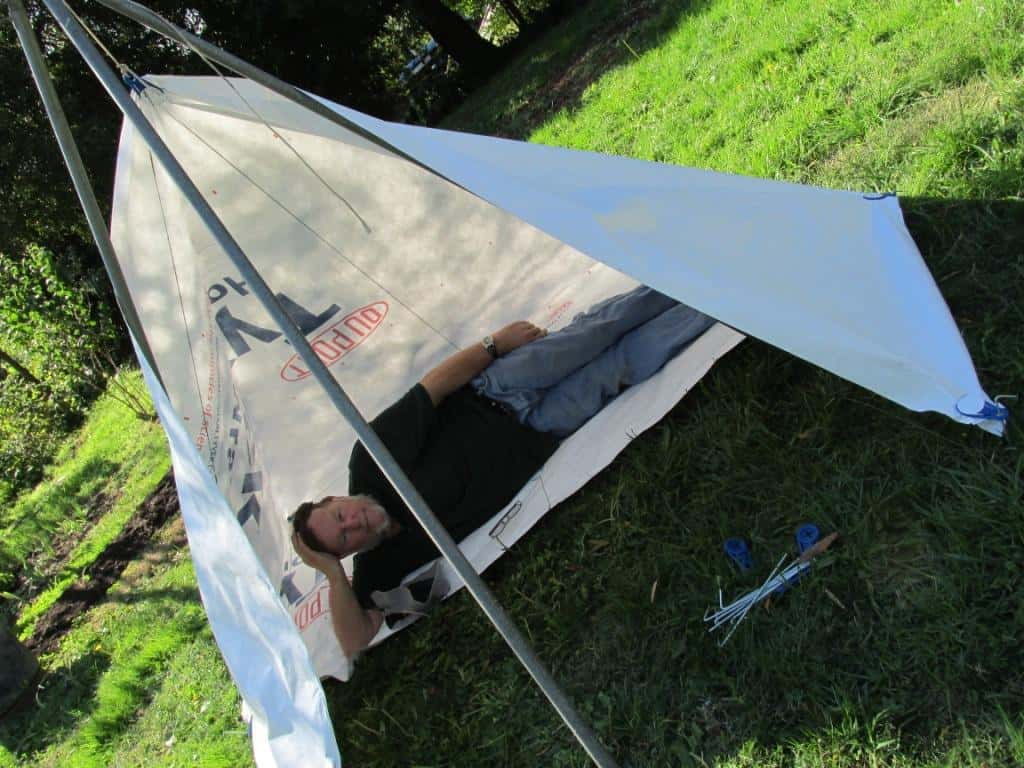 ... Prototype erected with tarp clips from Aussie Disposals. & Tyvek Solo Fire Shelter u2013 The Ultralight Hiker