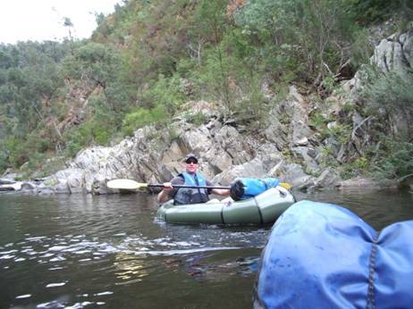 Canoeing the Thomson River