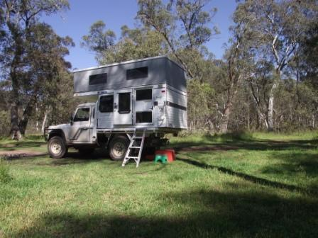 First Trip in the Tray Back Camper