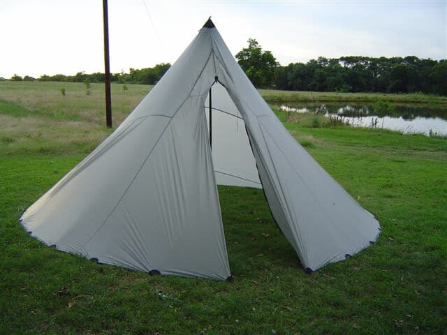 One Pole Tyvek Tipi: