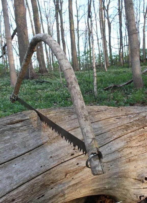 Improvised Bow Saw: