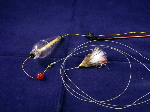 Hand line fly fishing the ultralight hiker for Fly fishing rig