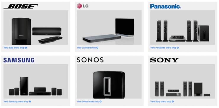 Popular Brands - Home Cinema System