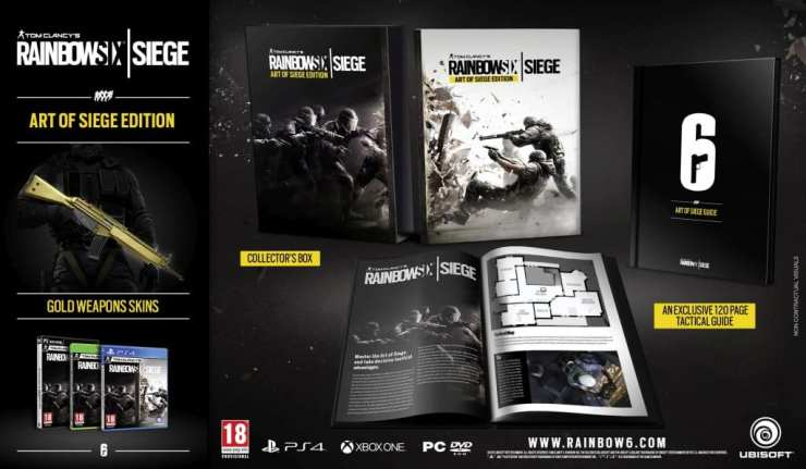 Tom Clancy's Rainbow Six: Siege - Art of Siege Edition available for pre-order