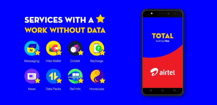 partners with Airtel to bring 'Total, built by hike' on devices