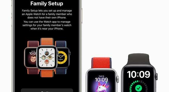 apple-watch-se Family setup