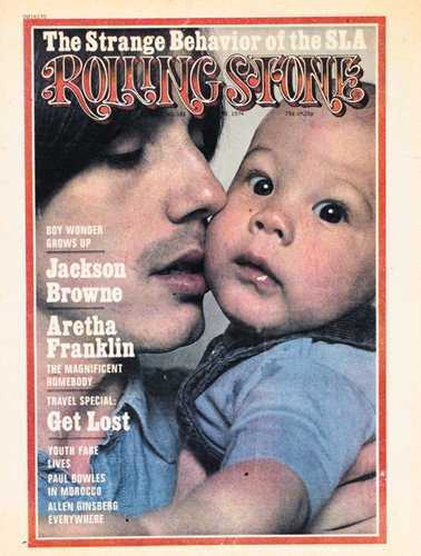 Jackson Browne and with son Ethan May 23, 1974
