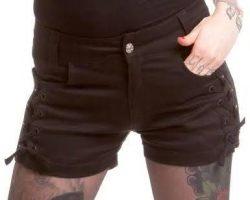 LADIES-BURNOUT-BLACK-SHORTS