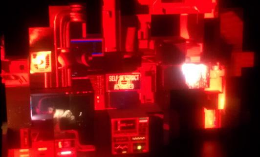 Amon Tobin manning the machine, I presume. (Photo - D. Hixon)