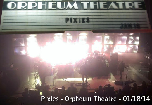 Pixies at Orpheum Theatre on Saturday night. (Photo - D. Hixon)