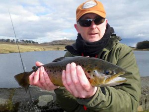 The Unfamousfly with the target of Scottish fly fishing, a large Brown Trout