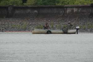 Fishing near the Western Dam Wall at Carron Valley