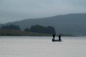 Anglers out on Carron Vallley