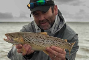 Glen Pointon and a Sea Trout.