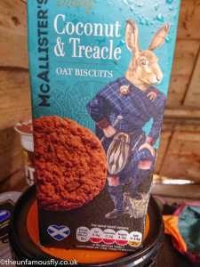 Horror hare on a biscuit box