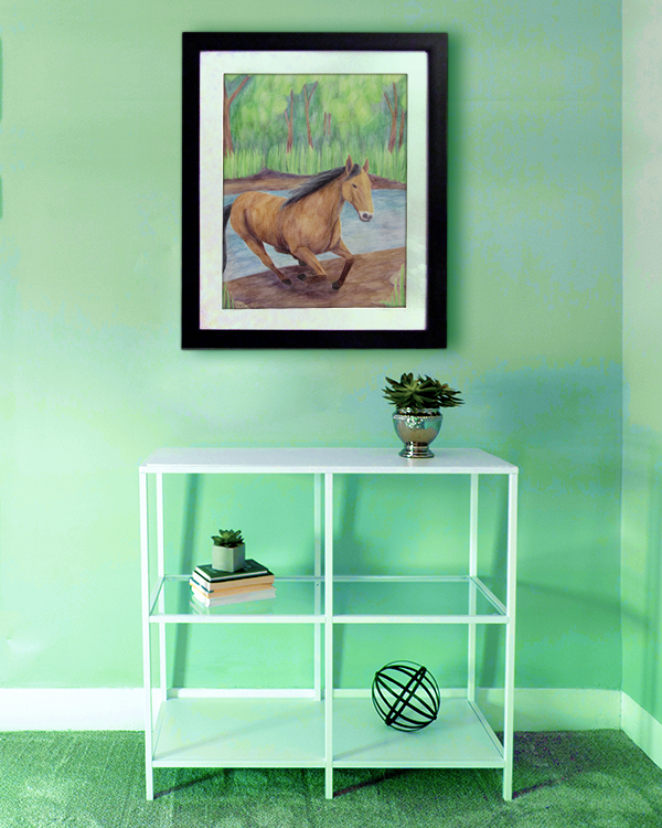 Horse (Framed Mockup) by The Unfolding Butterfly