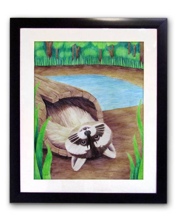 Raccoon (Framed) The Unfolding Butterfly