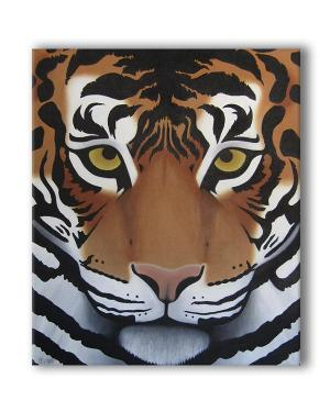 Tiger Original Wild Cat Acrylic Painting