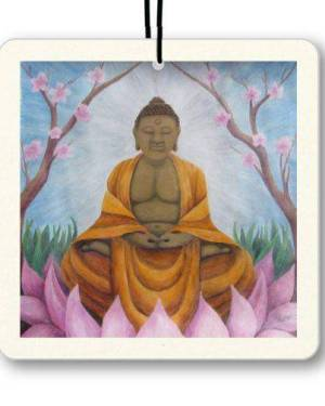 Air Freshener - Buddha - Air Freshener Of Acrylic Paint And Watercolor Pencil Fine Art