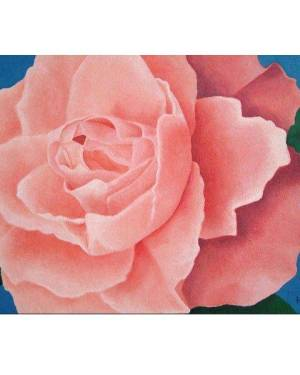 Card - Every Rose - 5x7 Inch Folded Greeting Card Of Acrylic Paint Fine Art
