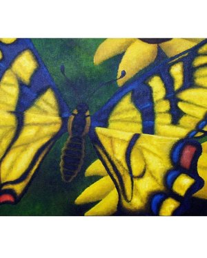 Card - Transform And Be Free - 5x7 Inch Folded Greeting Cards Of Acrylic Paint Butterfly Fine Art
