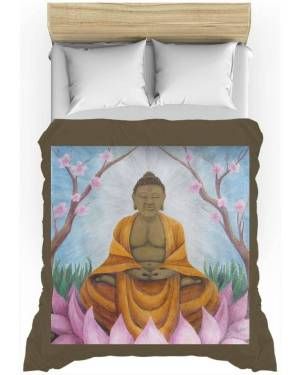 Duvet Cover - Buddha - Duvet Cover Of Acrylic Paint And Watercolor Pencil Fine Art