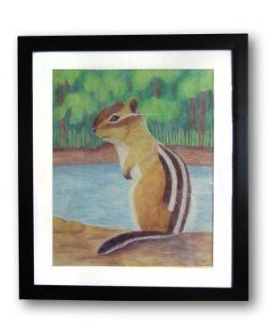 Totem Animal Art - Chipmunk - Totem Animal Watercolor Pencil Original Art And Printed Products