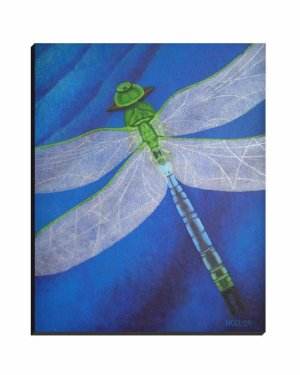 Wrapped Canvas - Resilience - Dragonfly Wrapped Canvas Reproduction Of Acrylic Painting Fine Art