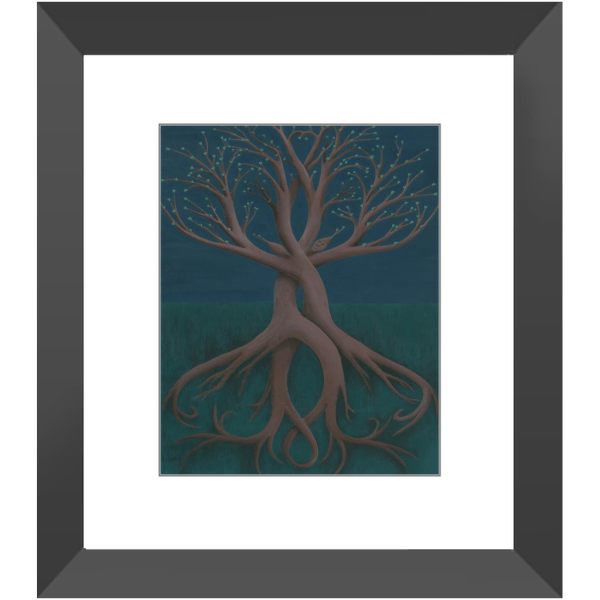 Growing Together Framed Prints of Acrylic Paint Fine Art