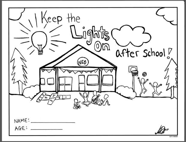 NEO hosts coloring contest to 'keep the lights on after