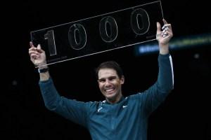 Rafael Nafal with his 1000 ATP Single trophy