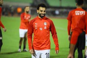 Salah on international duty with Pharoahs of Egypt.