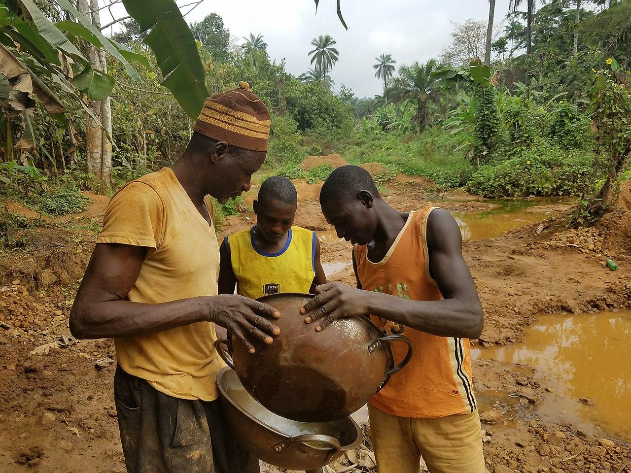 Illegal Gold mining in Nigeria