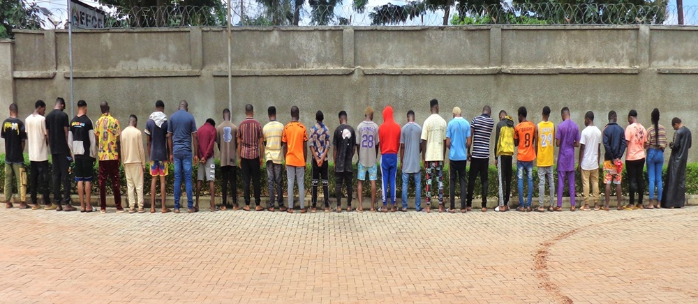 EFCC Nabs 26 'Yahoo' Suspects in Asaba (See Their Names)
