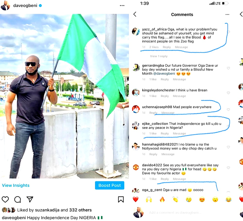 This Popular Nollywood Actor Was Attacked For Celebrating Nigeria @61