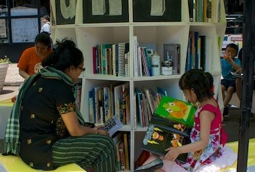 Uni adds reading to street in Jackson Heights