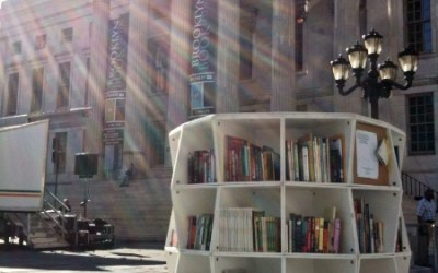 Brooklyn Public Library takes their Uni Tower for a spin