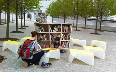 Creating a reading room at FDR Four Freedoms Park
