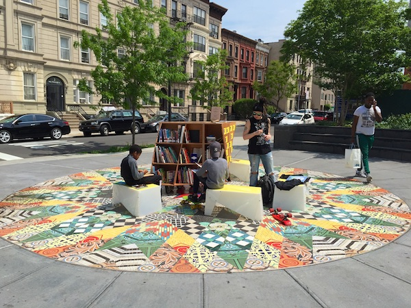 The Uni Project adds reading to Marcy Plaza in Bed Stuy