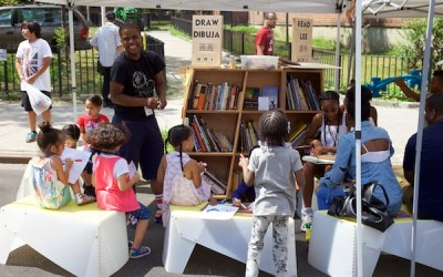 Uni reaching kids and families at East Harlem farmers' market and play street
