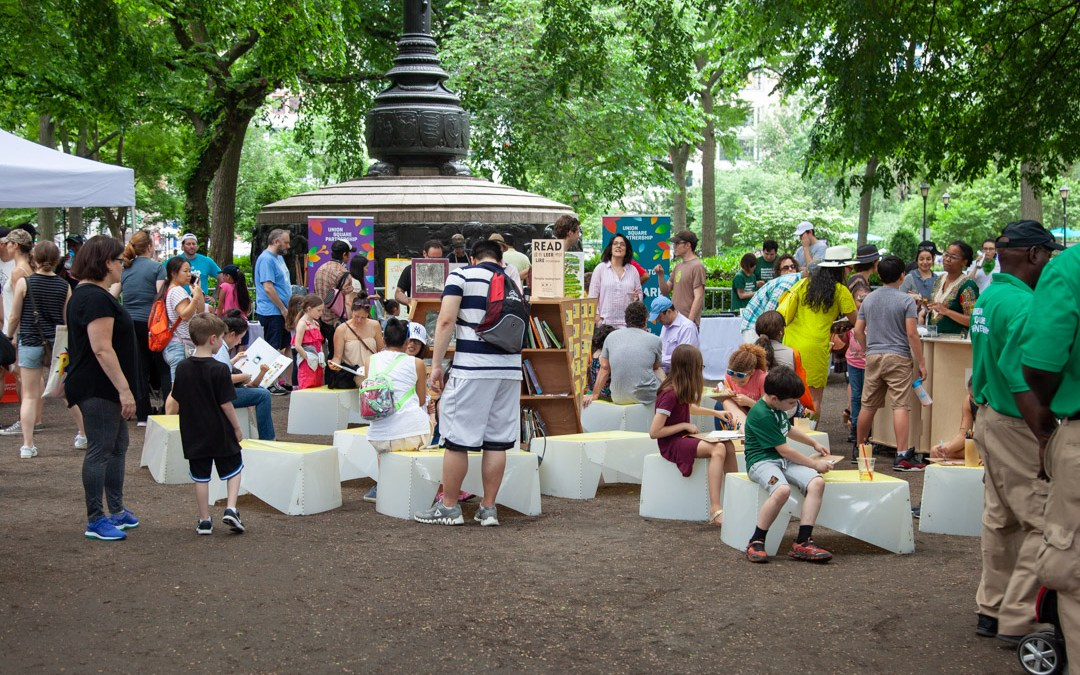 An open-air reading room and more for Union Square Park