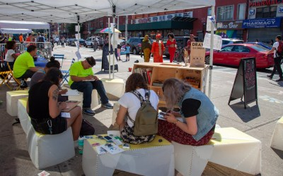 Pop-up drawing studio and artist in residence on 125th St in East Harlem
