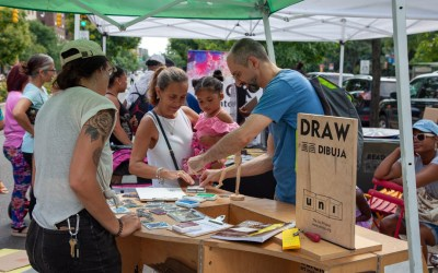 Uni Project's DRAW NYC in Bronx with Blick Art Materials, NYC DOT, Bronx Museum.